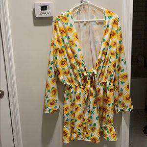 ASOS sunflower romper